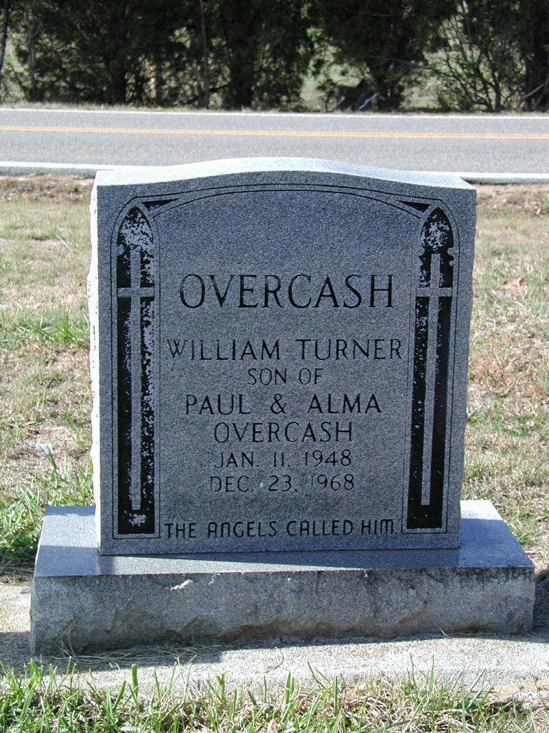 William Overcash tombstone 1