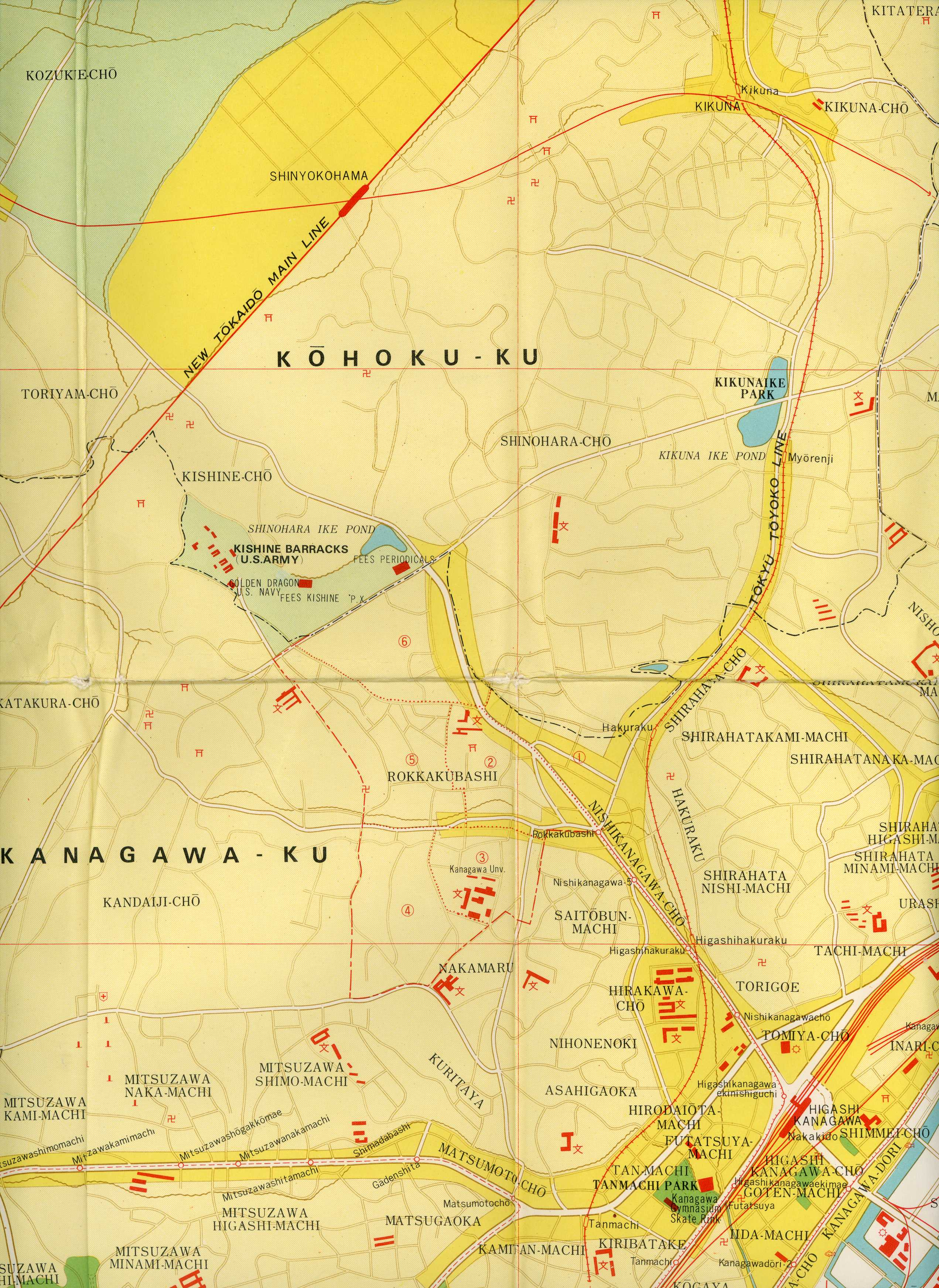 Yokohama map 1965